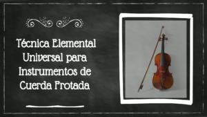 Curso de tecnica instrumentos de cuerda